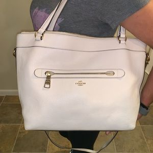 Large Off White Coach Tote